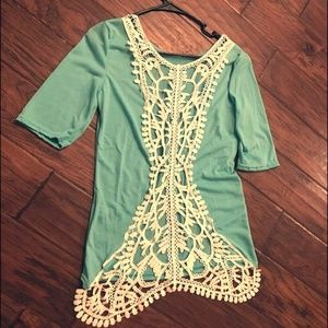 Tops - NWOT Sexy lace Back top